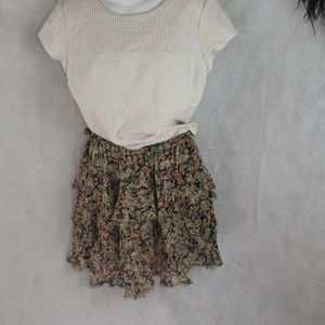 Topshop Mini floral  Layered skirt size 6